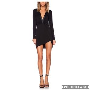 Blessed are the Meek Tie Up Deep V Plunge LBD